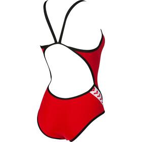 arena Team Stripe Super*** Back Traje de baño de una pieza Mujer, red/black